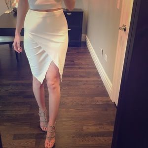 Off White Tulip Skirt